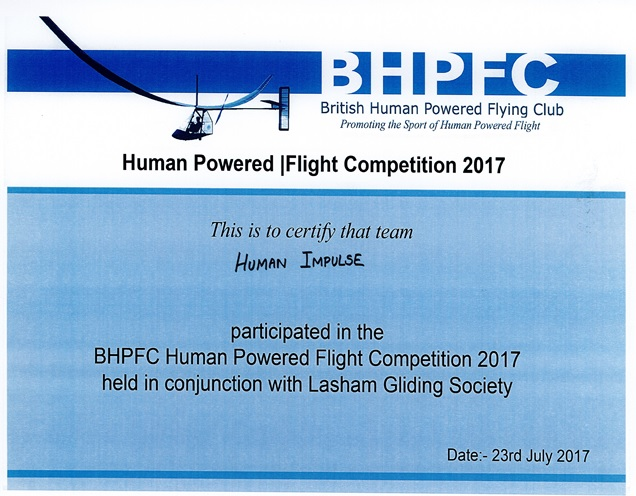 Human Impulse HPA Lasham Avion